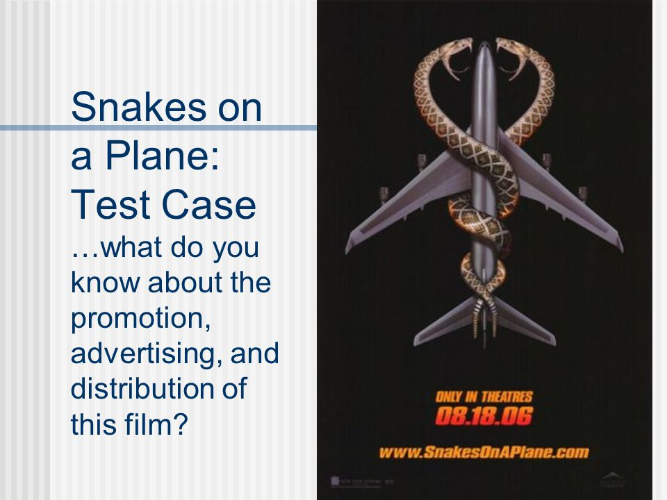 Snakes on a Plane: Test Case …what do you know about the promotion, advertising, and distribution of this film