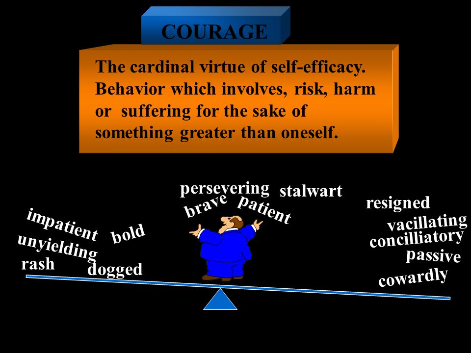 COURAGE The cardinal virtue of self-efficacy.