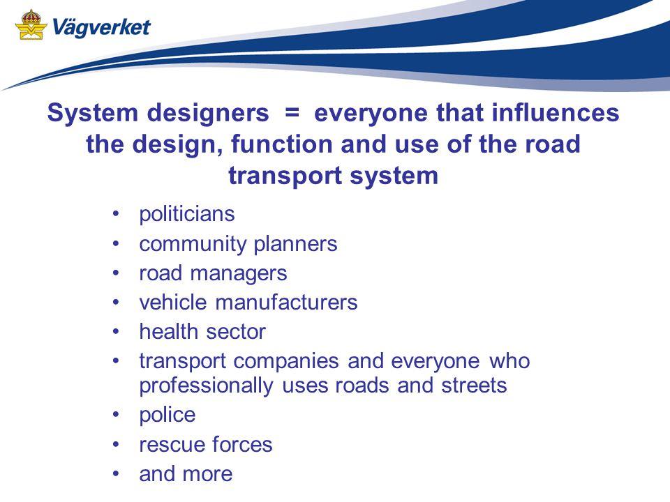 Traffic safety in Sweden Mats Petersson Swedish Road Administration Mats.Petersson@vv.se www.vv.se