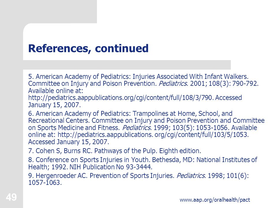 49 www.aap.org/oralhealth/pact References, continued 5.
