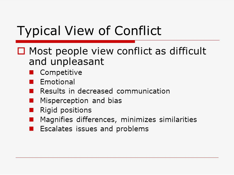 Integrative Model for Conflict Management  Is there a solution, or are there solutions, that would fit both parties' needs regarding the resident assignment problem.
