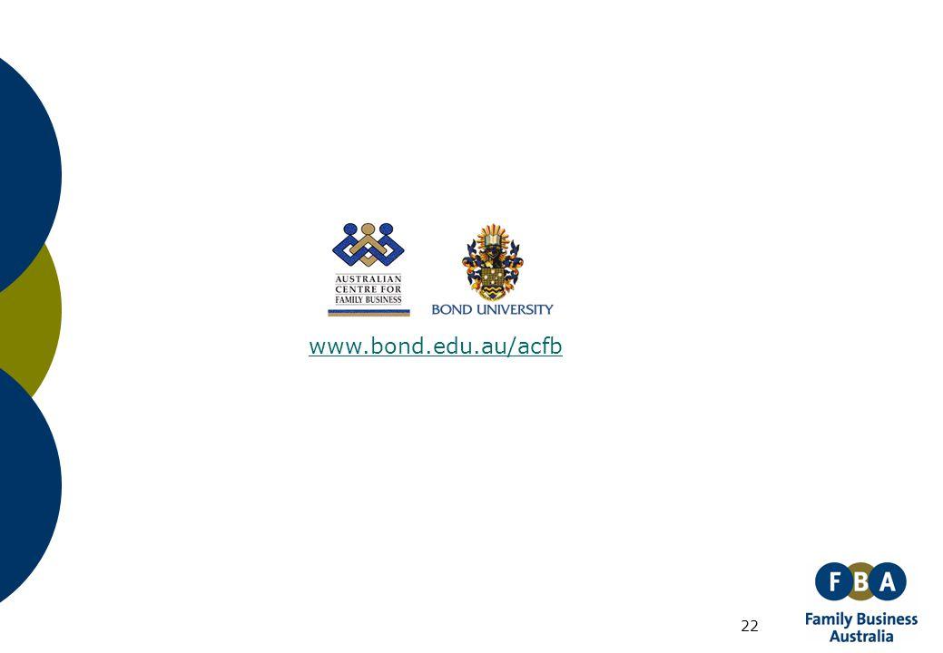 22 www.bond.edu.au/acfb