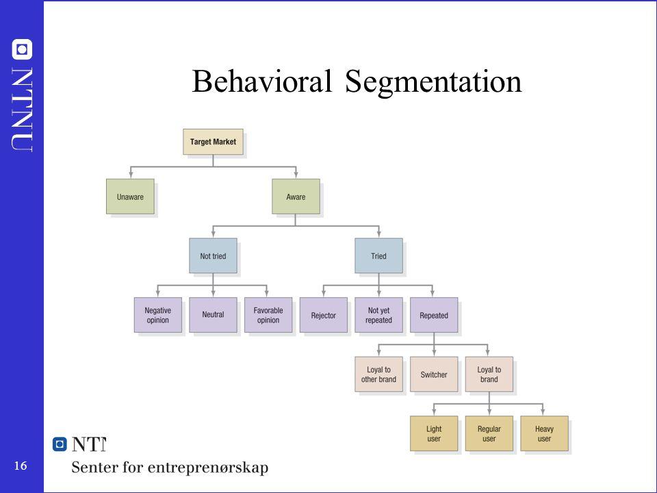 16 Behavioral Segmentation