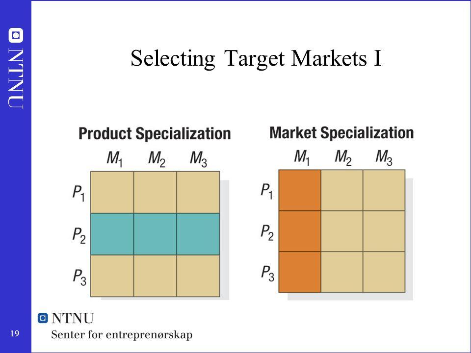 19 Selecting Target Markets I