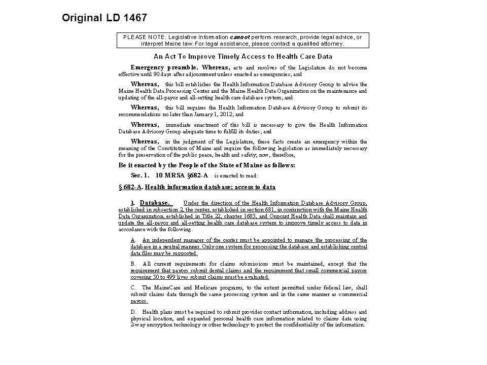 Original LD 1467