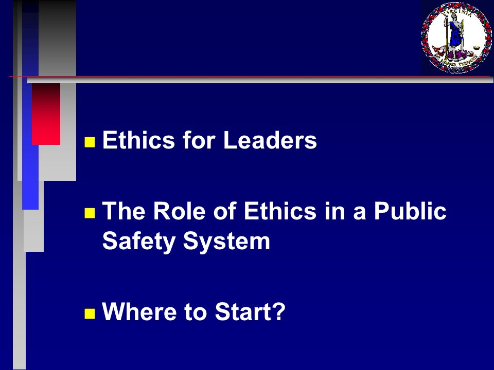 Ethics for Leaders n n The number one rule - which is commonly echoed in all management courses - is: Lead by example.