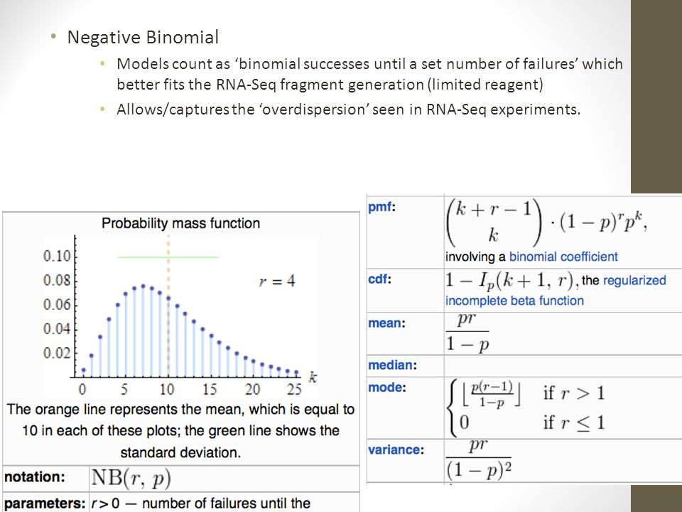 Negative Binomial Models count as 'binomial successes until a set number of failures' which better fits the RNA-Seq fragment generation (limited reage