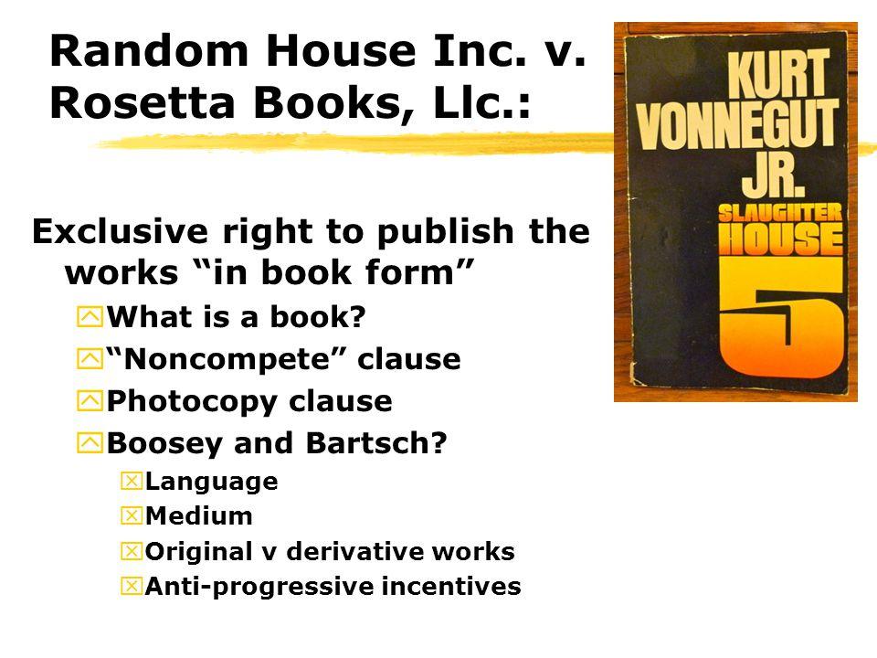 Random House Inc. v.