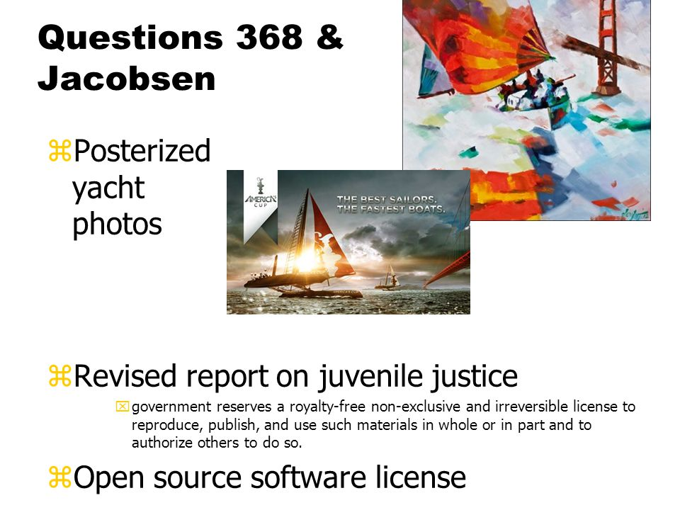 Questions 368 & Jacobsen zPosterized yacht photos zRevised report on juvenile justice xgovernment reserves a royalty-free non-exclusive and irreversible license to reproduce, publish, and use such materials in whole or in part and to authorize others to do so.