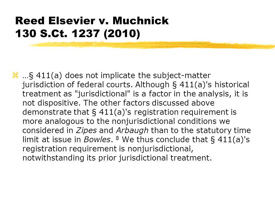 Reed Elsevier v. Muchnick 130 S.Ct.