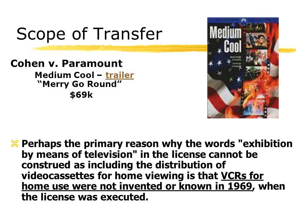 Scope of Transfer Cohen v.