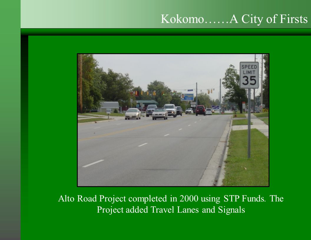 Alto Road Project completed in 2000 using STP Funds.