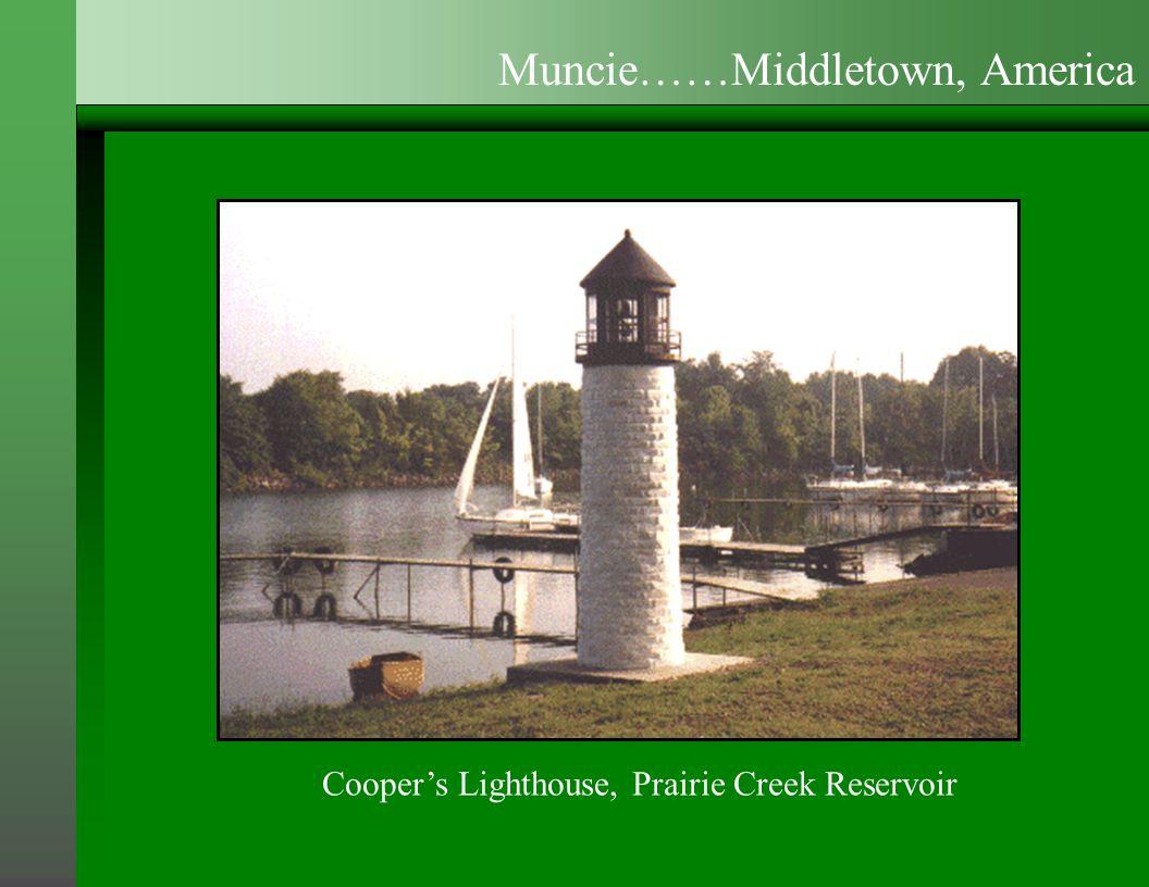 Cooper's Lighthouse, Prairie Creek Reservoir Muncie……Middletown, America