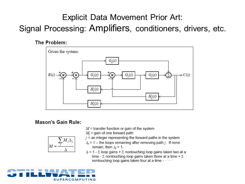Explicit Data Movement Prior Art: Signal Processing: Amplifiers, conditioners, drivers, etc.