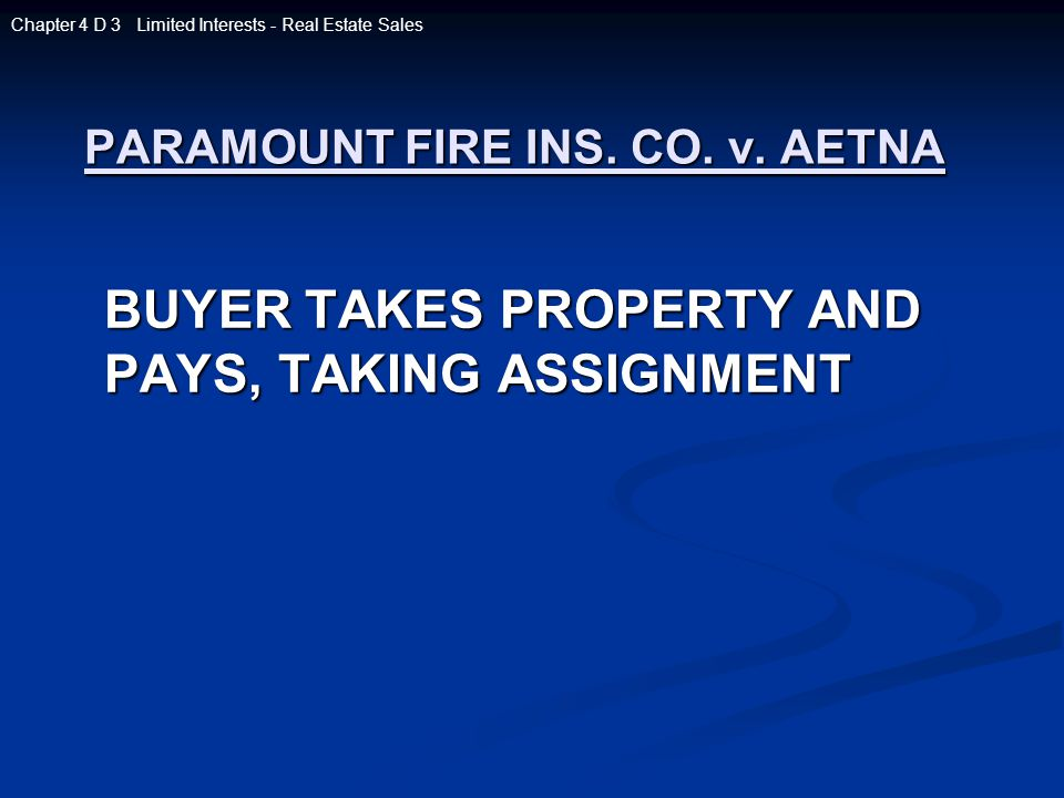 PARAMOUNT FIRE INS.CO. v.