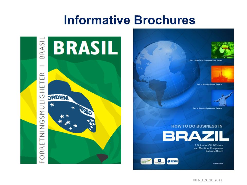 NTNU 26.10.2011 Informative Brochures