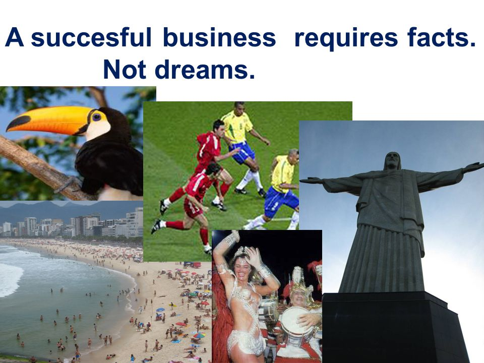 A succesful business requires facts. Not dreams. NTNU 26.10.2011