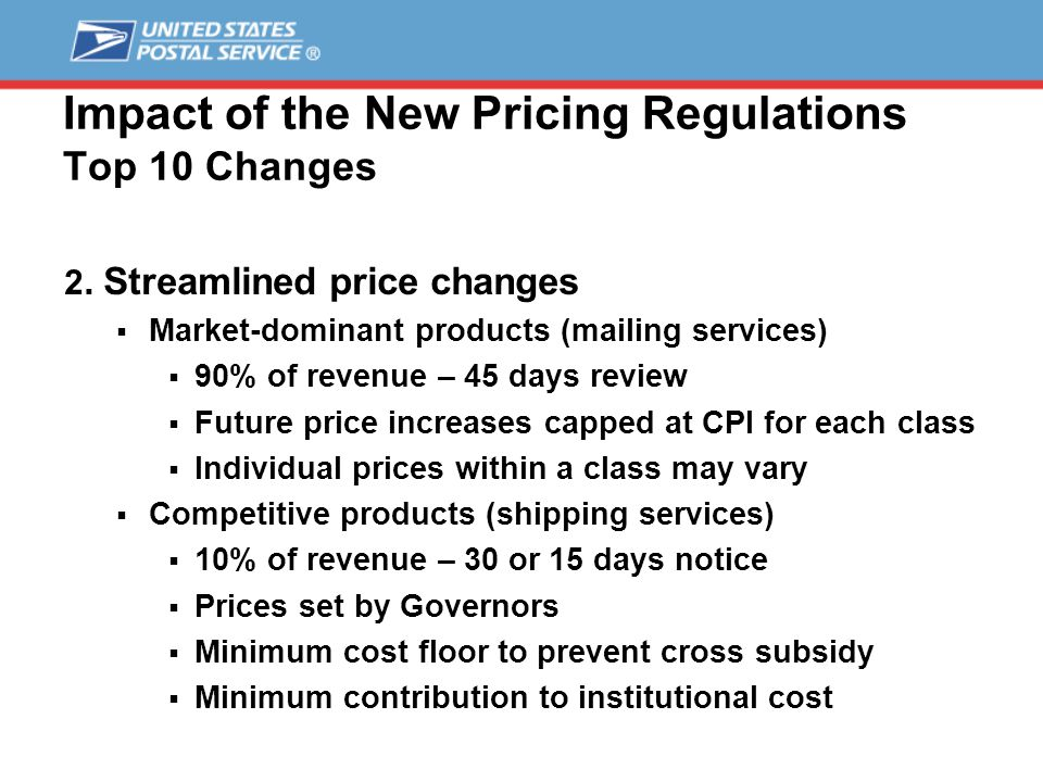 Impact of the New Pricing Regulations Top 10 Changes 3.