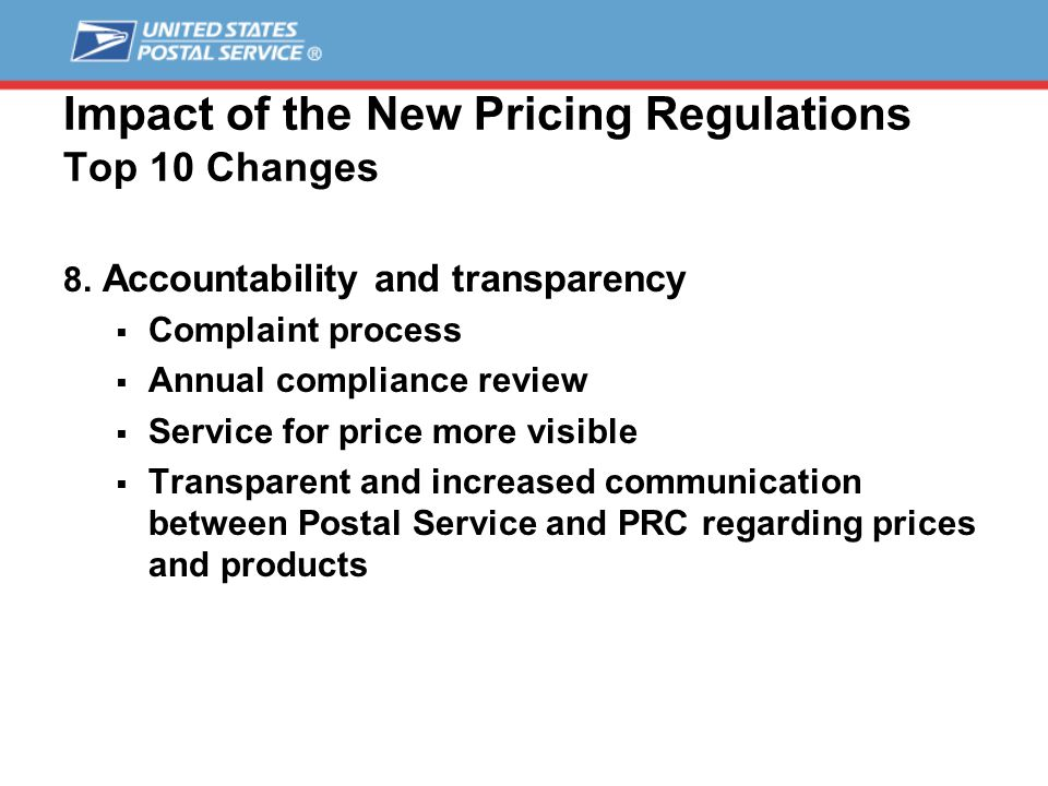 Impact of the New Pricing Regulations Top 10 Changes 8.