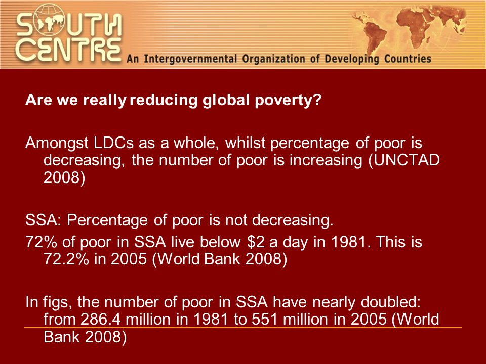 Are we really reducing global poverty.