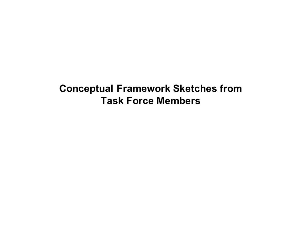 Conceptual Framework Sketches from Task Force Members