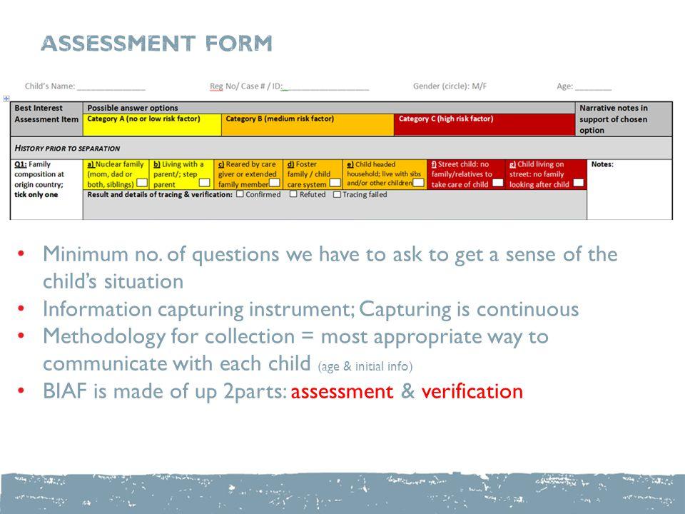 Best Interests Assessment Form