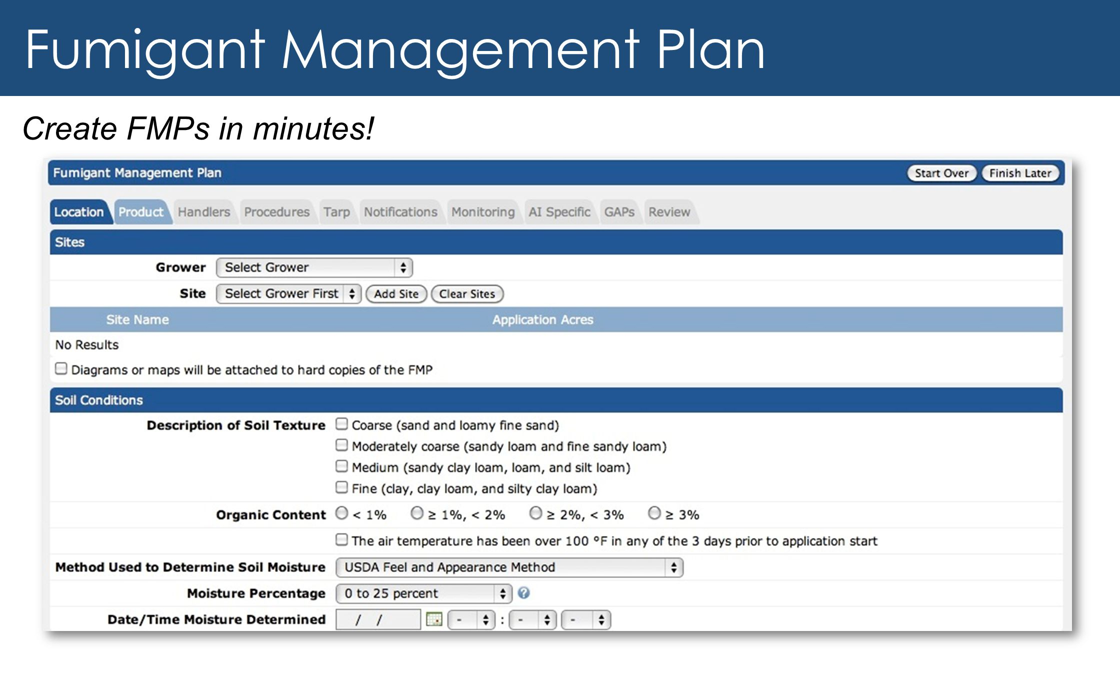 Fumigant Management Plan Create FMPs in minutes!