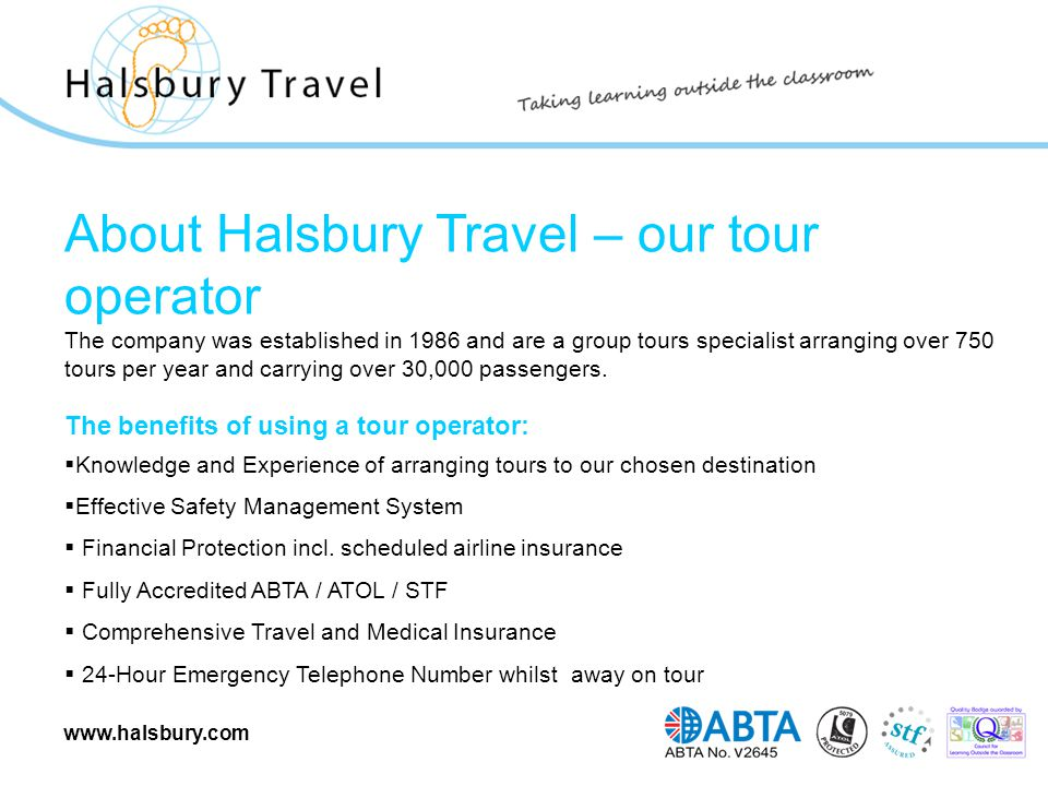 www.halsbury.com Trip overview When and where [for example We are planning a 4 days/3 nights trip to Paris by air 10/05/2010 – 14/05/2010].