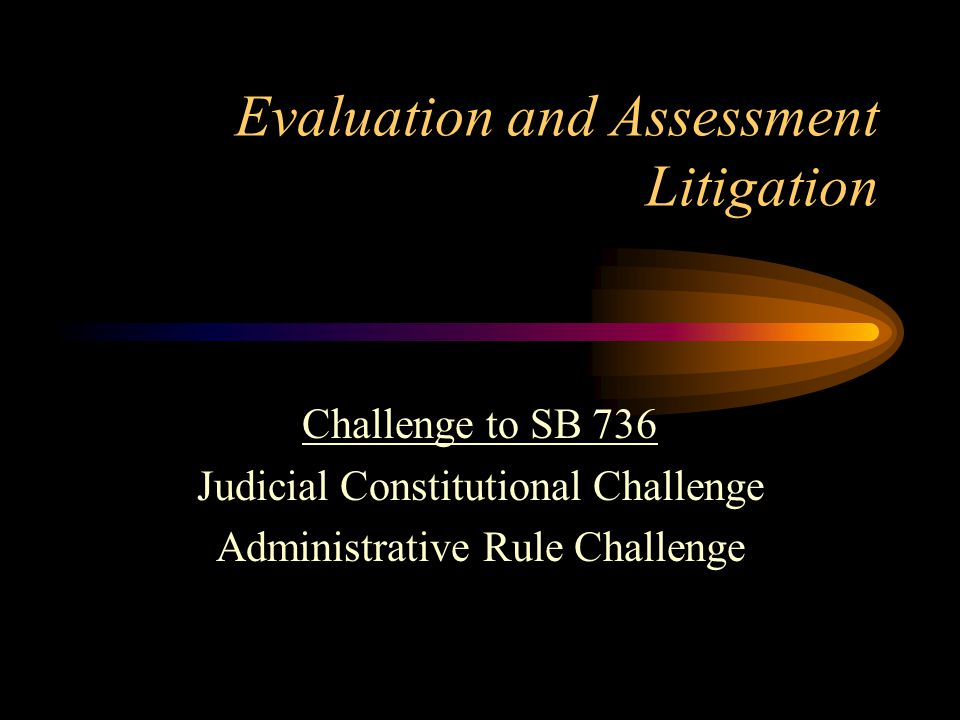 Status of Case - Lawsuit Trial on cross motions for summary judgment before Circuit Court will be held on January 16, 2013 Issue of law - does the statute violate the Constitution - will be decided Appeal of decision is likely no matter what the outcome