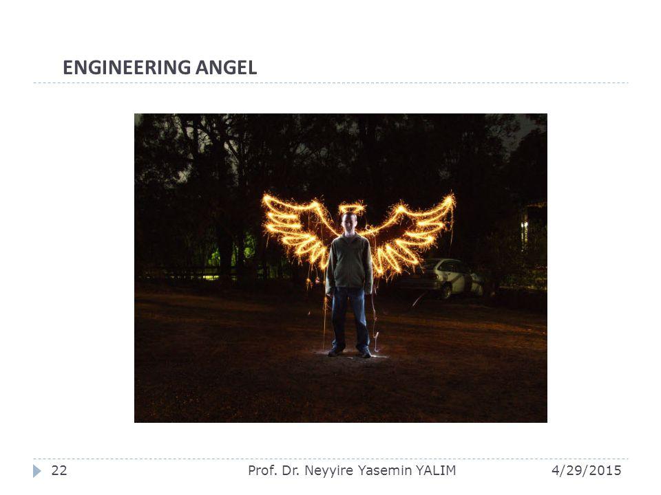 4/29/2015Prof. Dr. Neyyire Yasemin YALIM22 ENGINEERING ANGEL
