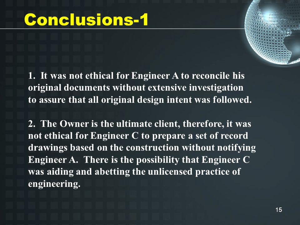 16 Discussion-1b An engineer's firm was retained by a fuel company to perform site investigations.