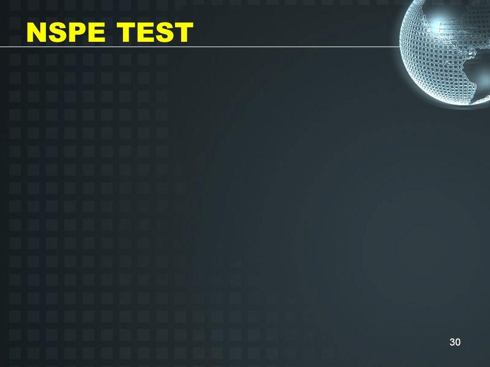 30 NSPE TEST