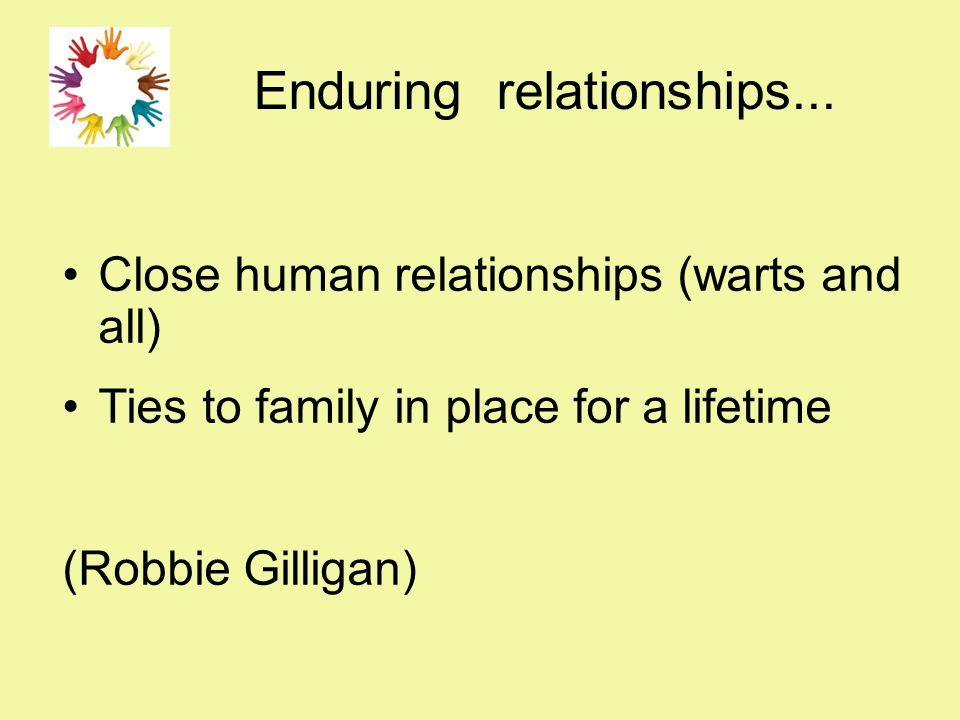 Enduring relationships...