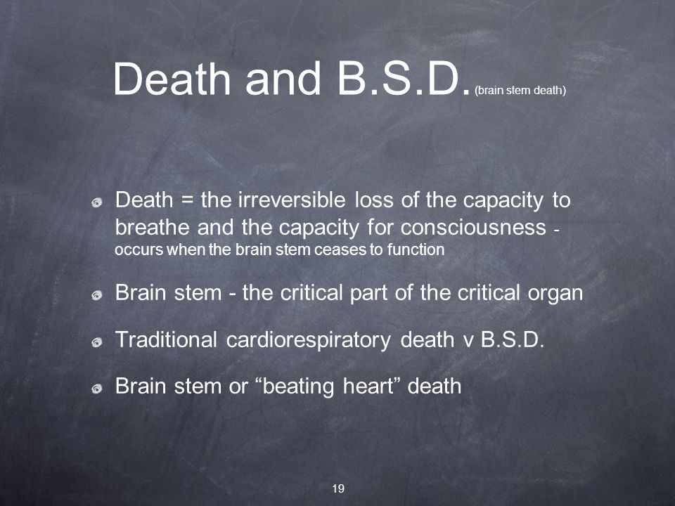 Death and B.S.D.