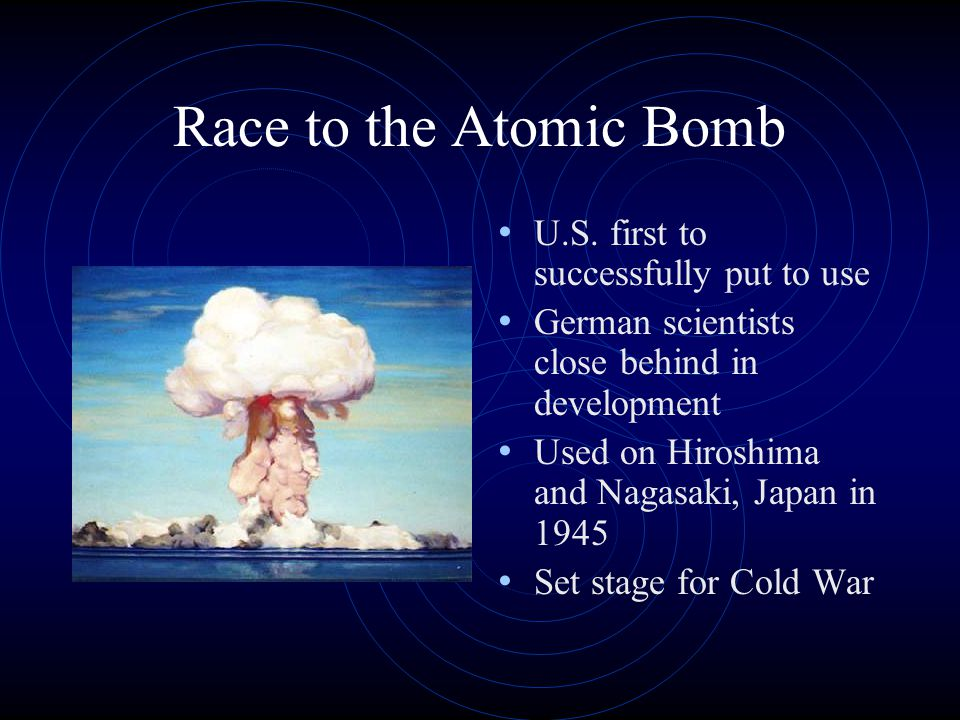 Race to the Atomic Bomb U.S.