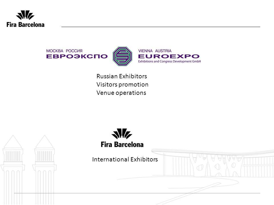 International Exhibitors Russian Exhibitors Visitors promotion Venue operations