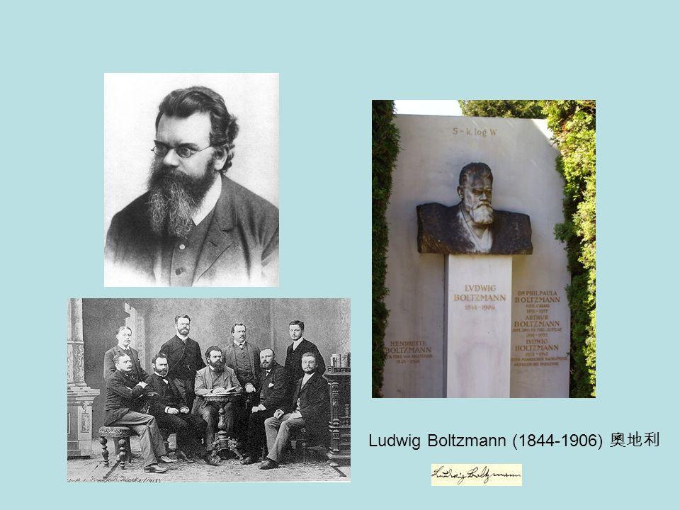 Ludwig Boltzmann (1844-1906) 奧地利