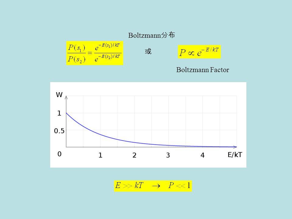 Boltzmann Factor 或 Boltzmann 分布