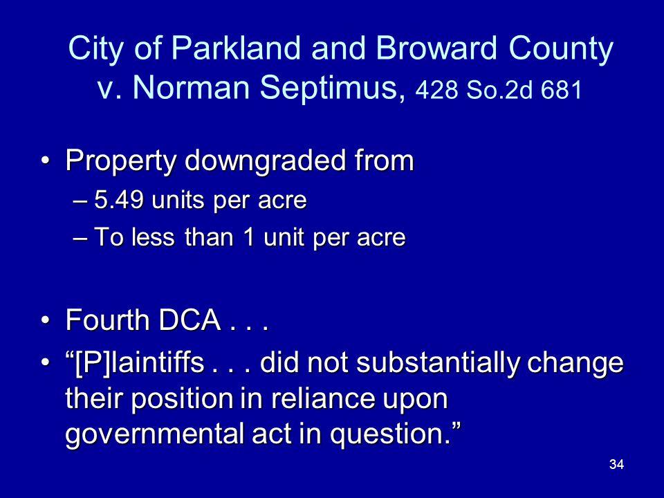 34 City of Parkland and Broward County v.