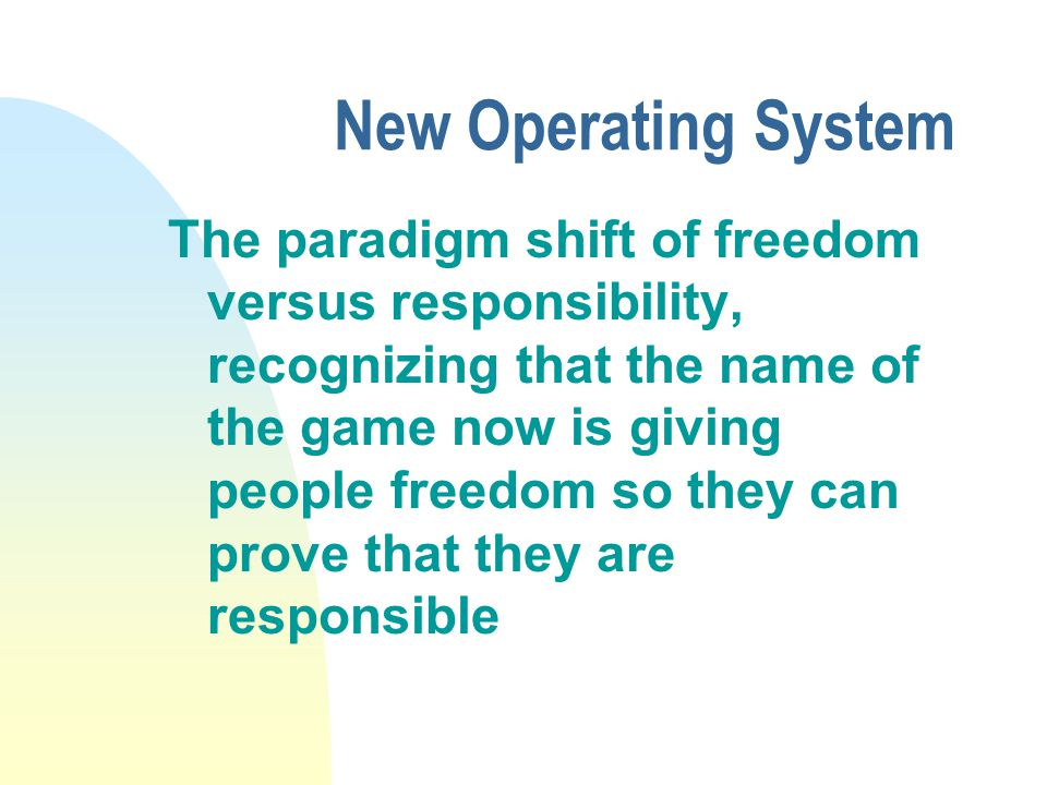 New Operating System Can you learn faster then the person next to you.