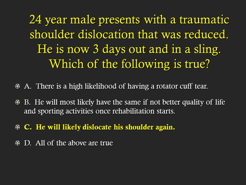 Describe the 6 types of AC Joint Separation