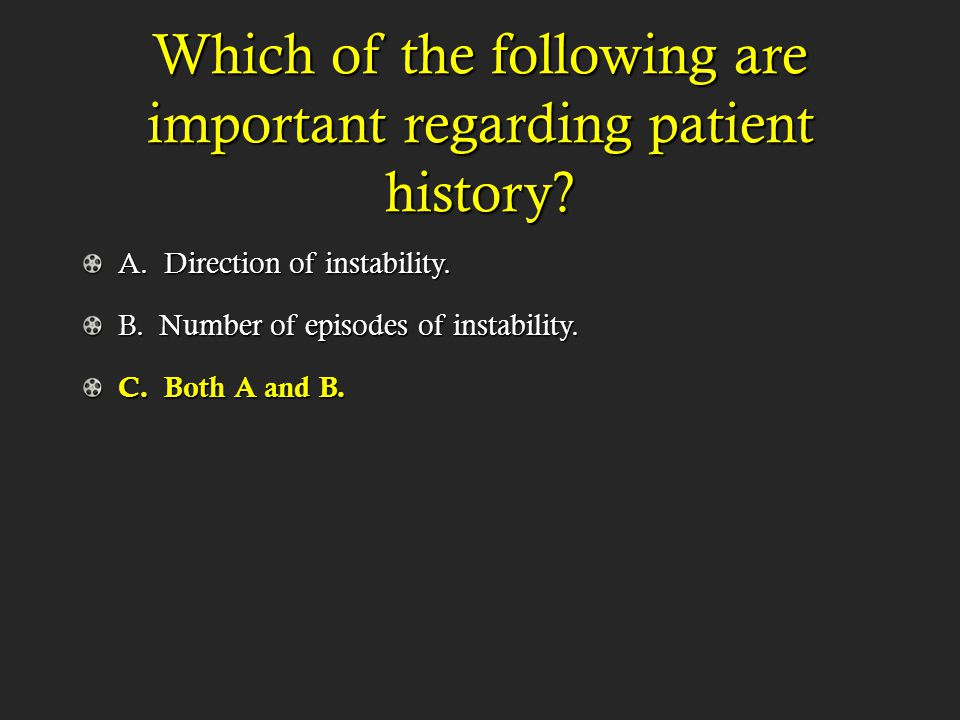 The anterior apprehension test is used to test/evaluate what type of instabilty?
