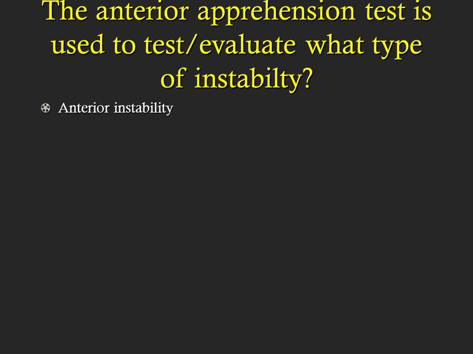 Anterior instability