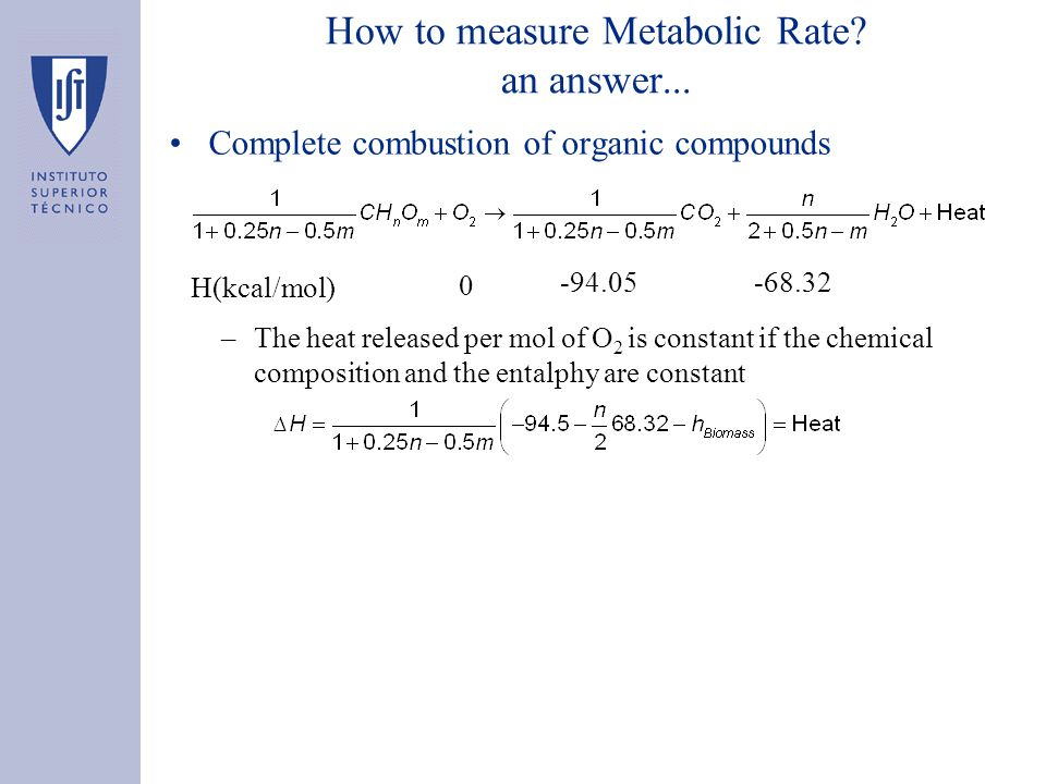 How to measure Metabolic Rate. an answer...