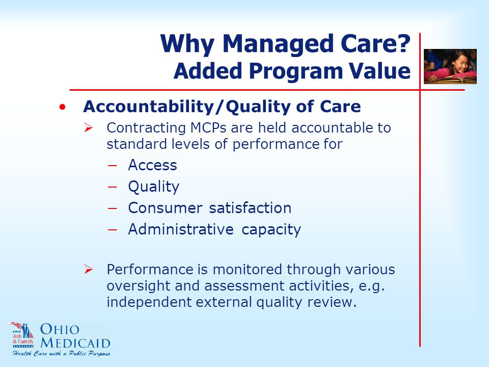 Why Managed Care.