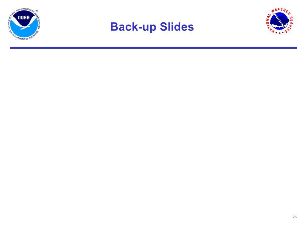 26 Back-up Slides