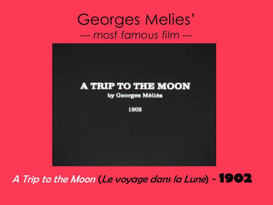 Georges Melies' --- most famous film --- A Trip to the Moon (Le voyage dans la Lune) - 1902