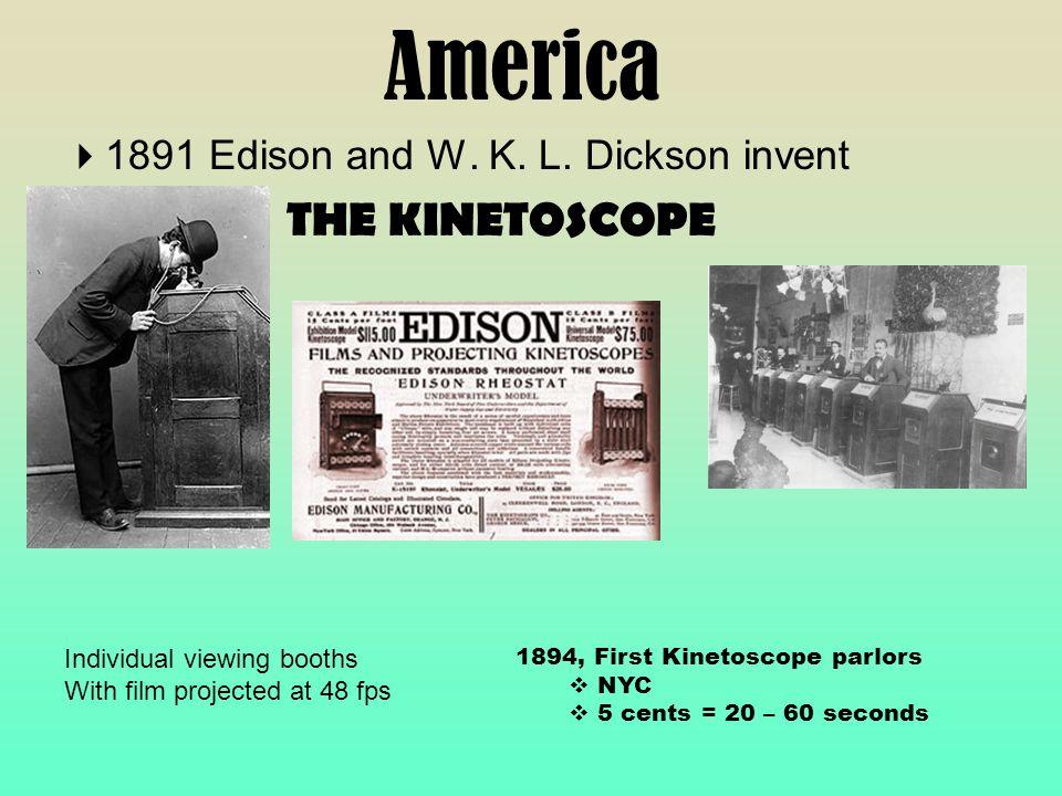America  1891 Edison and W. K. L.