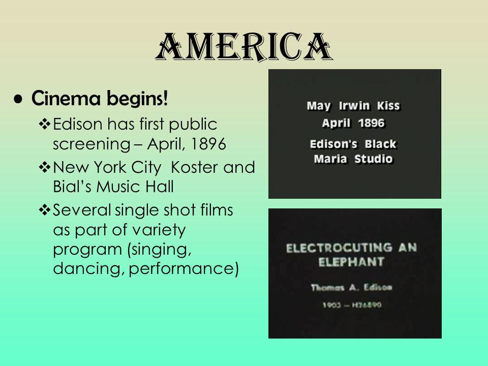 America Cinema begins.