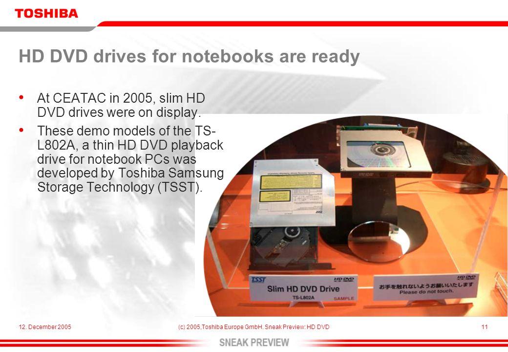 12. December 2005(c) 2005,Toshiba Europe GmbH.